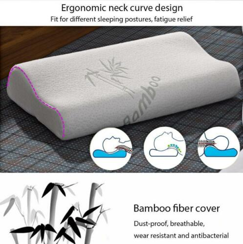 Ergonomic Curve Bamboo Fiber Slow Rebound Health Care Memory Foam Neck 6J