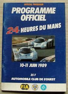 LE-MANS-24-HOUR-ENDURANCE-CAR-RACE-1989-Official-Programme