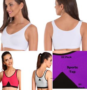 17c6b3fc7fa New Jockey Sport Bra Crop Top Push Up Seamless Bra Women Plus Size S ...