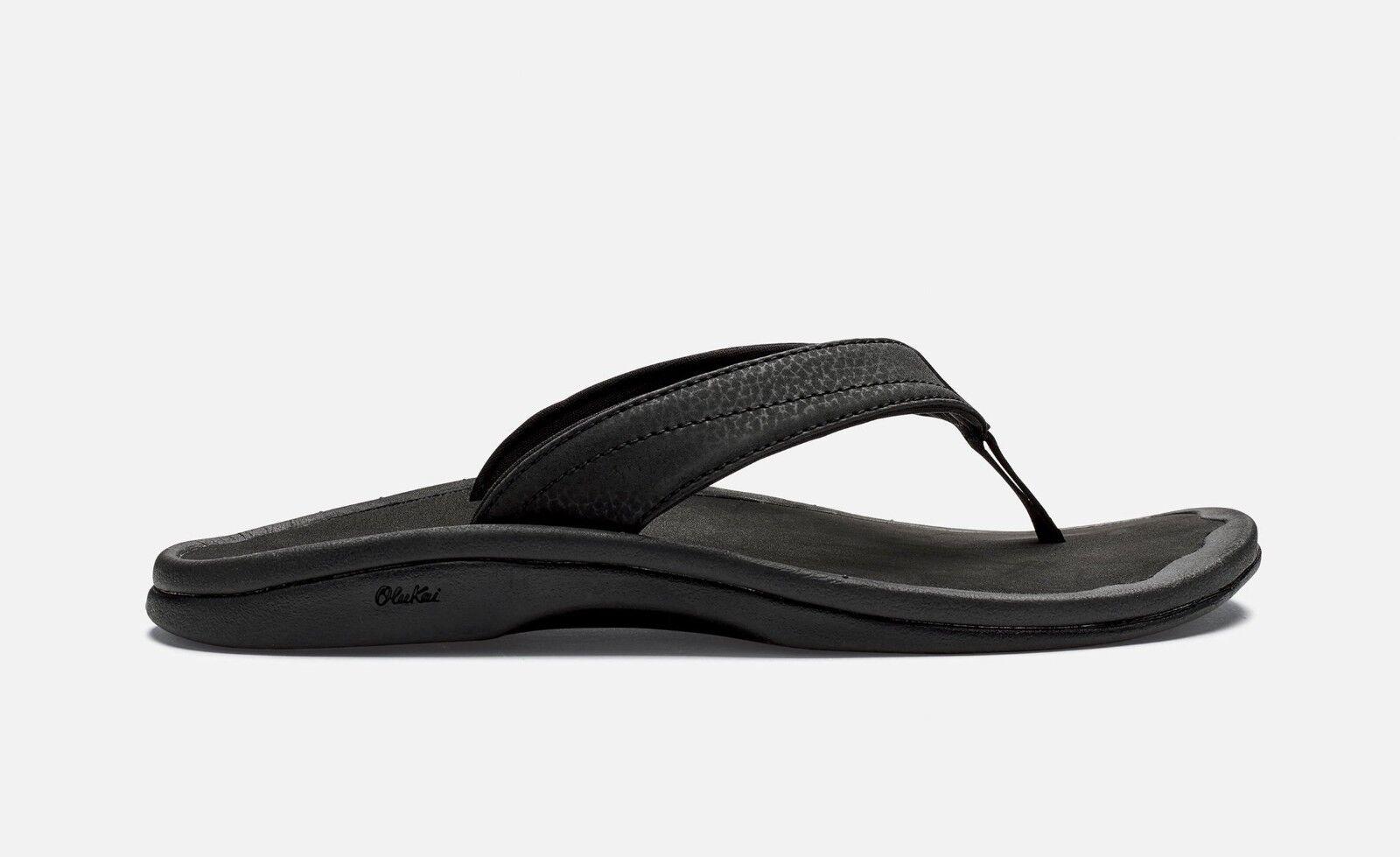 OluKai 'Ohana Womens Flip Flop Sandals Black   Black 20110-4040  62