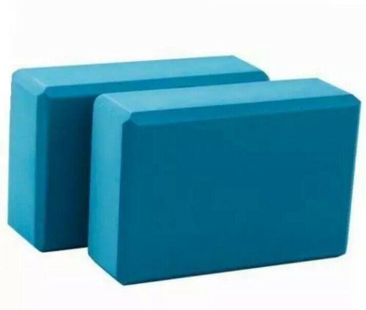 1 (One) Lotus Yoga Block Foam Build Balance and Flexibility Aqua Blue Workout