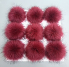 0c21316f9aa3 DIY Faux Raccon Fur Fluffy Pom Pom Ball for Hats Beanie Warm Accessories  10 12cm
