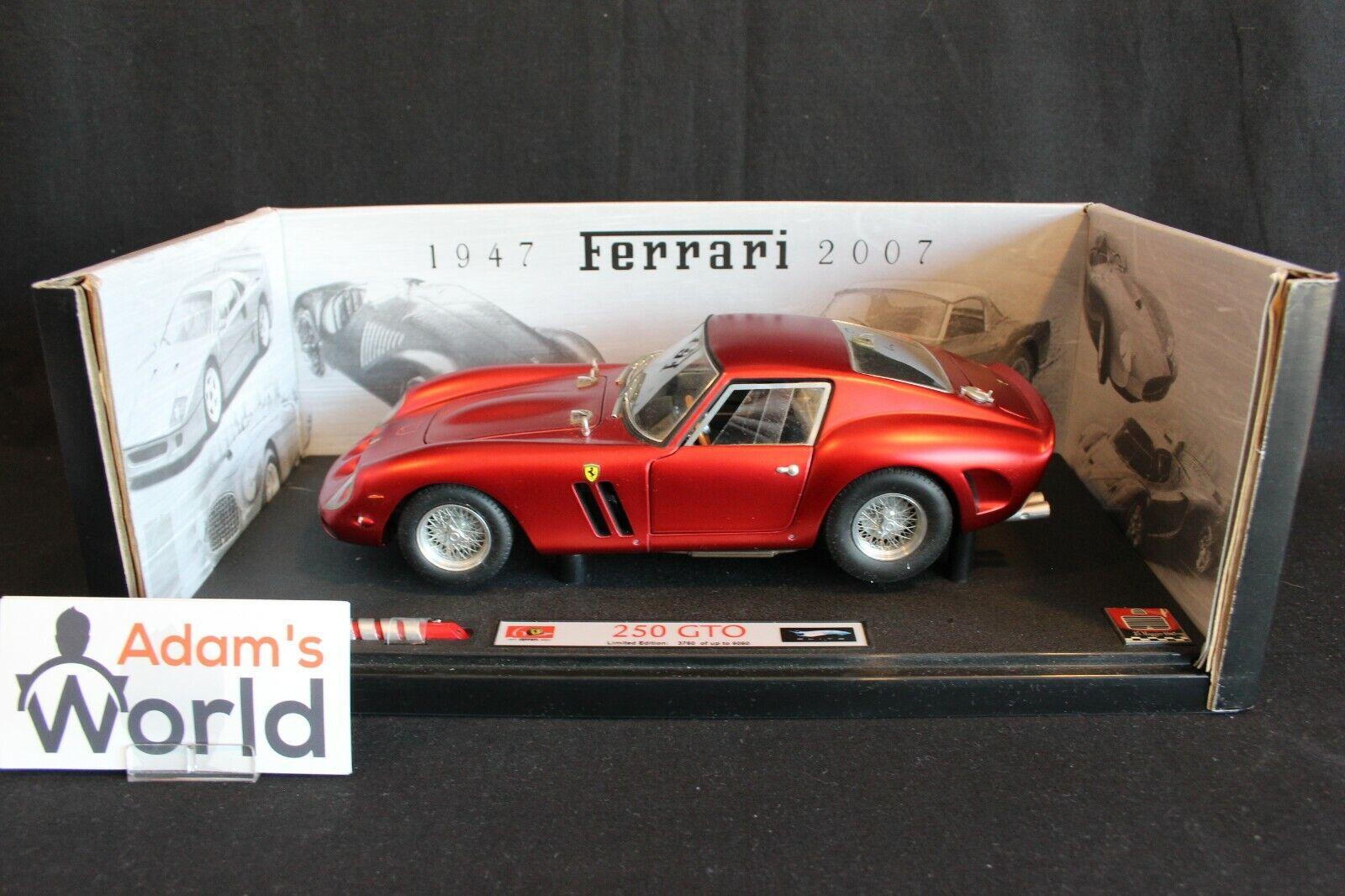 envío rápido en todo el mundo Hot Wheels Elite Elite Elite Ferrari 250 GTO 1 18 rojo  60 years Ferrari 1947 - 2007  (PJBB)  Disfruta de un 50% de descuento.