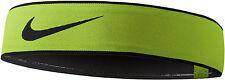 NIKE Pro Swoosh Headband 2.0 One Size Most Head Tie Volt Black Dri-FIT Running