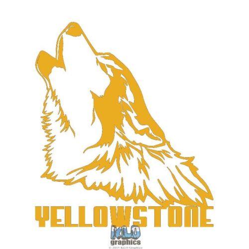 Wolf Yellowstone Vinyle Autocollant Décalque en voie de disparition sauver notre planète environnementaliste