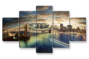 Quadro moderno pz new york skyline cm stampa su tela