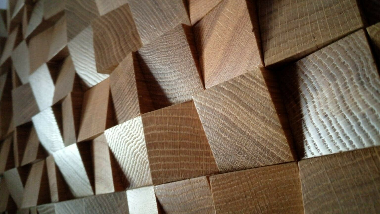 8X NEW  3D Quality SOLID OAK WOOD Diffuser acoustic wall decoration panel home