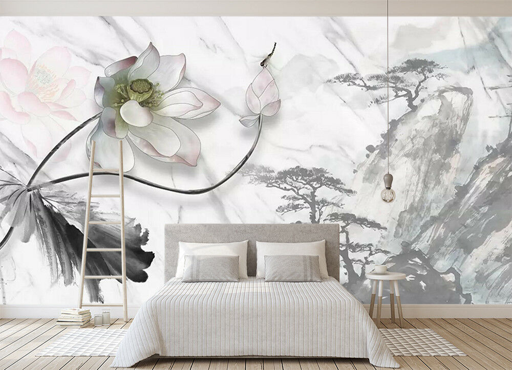 3D Flower Mountain 9  Wall Paper Exclusive MXY Wallpaper Mural Decal Indoor Wall