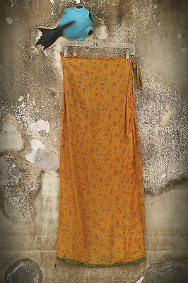 Unbranded One Size S-L Wrap Maxi Skirt Tiny Flowers Vintage 1980s Sophisticated