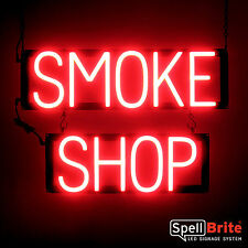 SpellBrite Ultra-Bright SMOKE SHOP Sign Neon-LED Sign (Neon look)