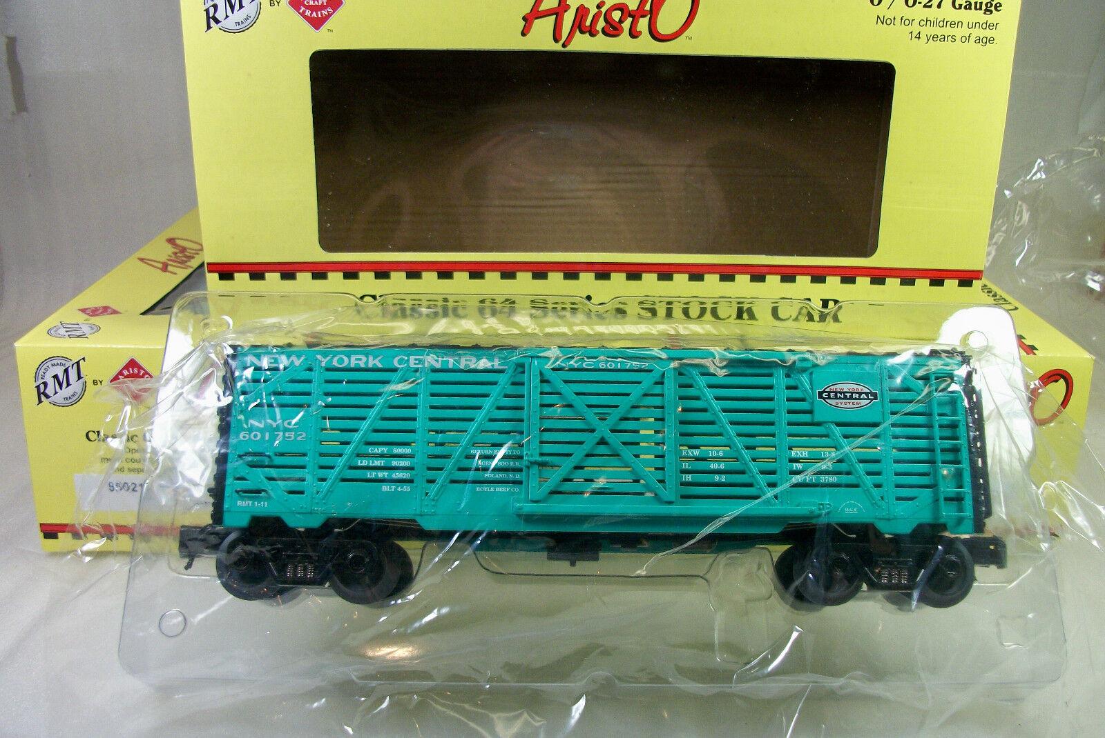 Ready Made Trains  Aristo-Craft Caja de 6 Nueva York Central Stock Cars Como Nuevo OBS