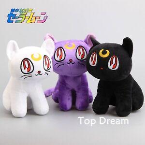 11-039-039-Sailor-Moon-LUNA-CAT-Artemis-Diana-Plush-Toy-Soft-Stuffed-Animal-Doll-Gift