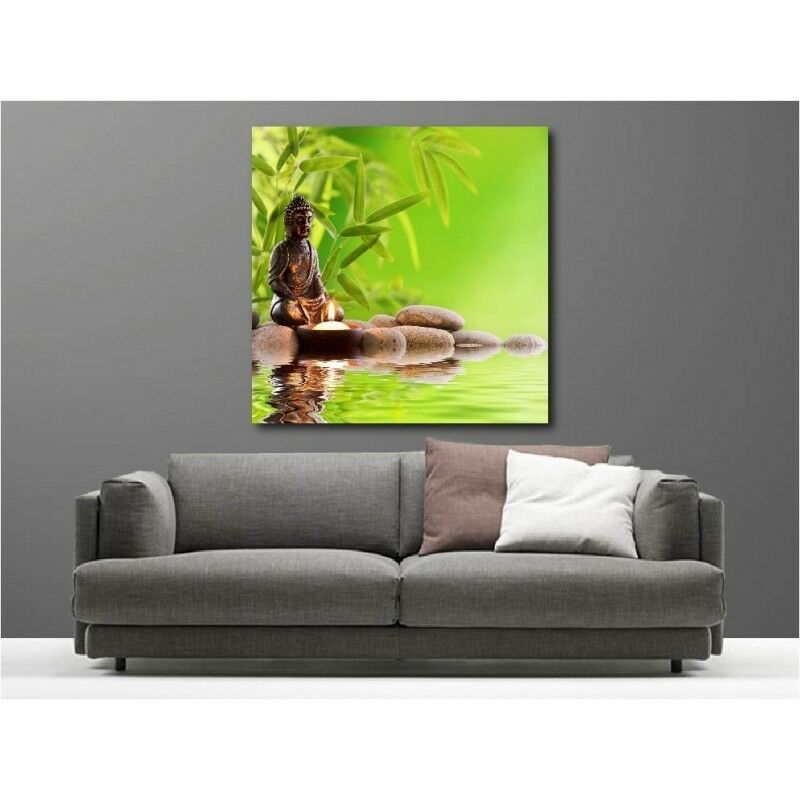 Canvas Fabric Deco Square Buddha Bamboo 111064364