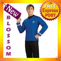 C676 Star Trek Movie (2009) - Blue Shirt Officer Spock. Deluxe Adult Costume