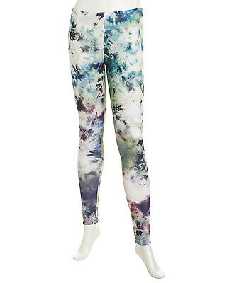 ROMEO JULIET COUTURE Tie-Dye Scuba Leggings $108 NWT Multi Pants Neiman Marcus S