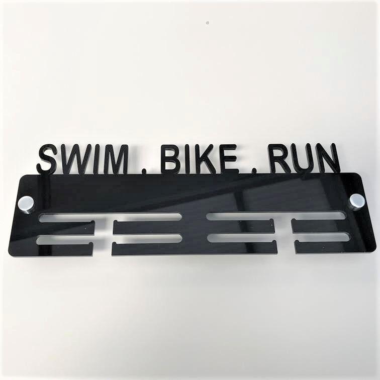 Schwimm, Fahrrad, Lauf Medaille Anhänger - Viele Viele Viele Farbauswahl - Beinhaltet Alle a36b97