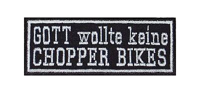 100% Waar Gott Wollte Keine Chopper Bikes Patch Biker Rocker Aufnäher Kutte Suzuki Yamaha