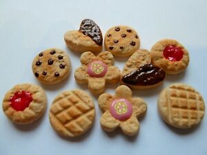 DOLLS-HOUSE-MINIATURE-FOOD-1-12-10-X-MIXED-BISCUITS-COOKIES-COMBINED-P-P