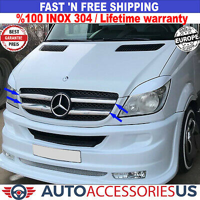 Dodge Mercedes Sprinter W906 Front Grill Trim Chrome Stainless Steel 2013-2018
