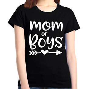 Mom-of-Boy-Women-039-s-T-Shirt-Mother-039-s-Day-Family-Love-Mom-Gift-Shirts