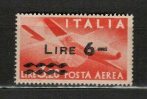 S 33579 Italy 1947 MNH New Mail Aerea Soprastampato L.6 1v