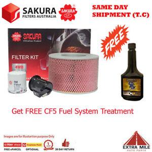 Sakura 4WD Filter Kit For TOYOTA LANDCRUISER FZJ105R 1FZ-FE 4.5L 03/1998-2002