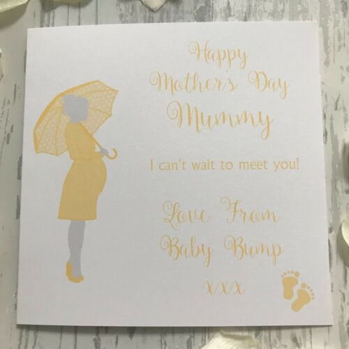 Baby Bump Mother/'s Day Birthday Card Mummy to Be Pregnant Lady Boy Girl Unisex