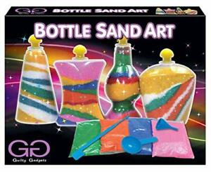 KIDS SAND ART CRAFT BOTTLE Toy DIY Party Activity Game Kit Set Girls P571085 UK