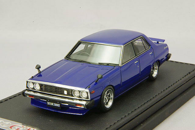 IGNITION MODEL 1/43 Nissan Skyline 2000 GT-EL  C210  blu  IG0322