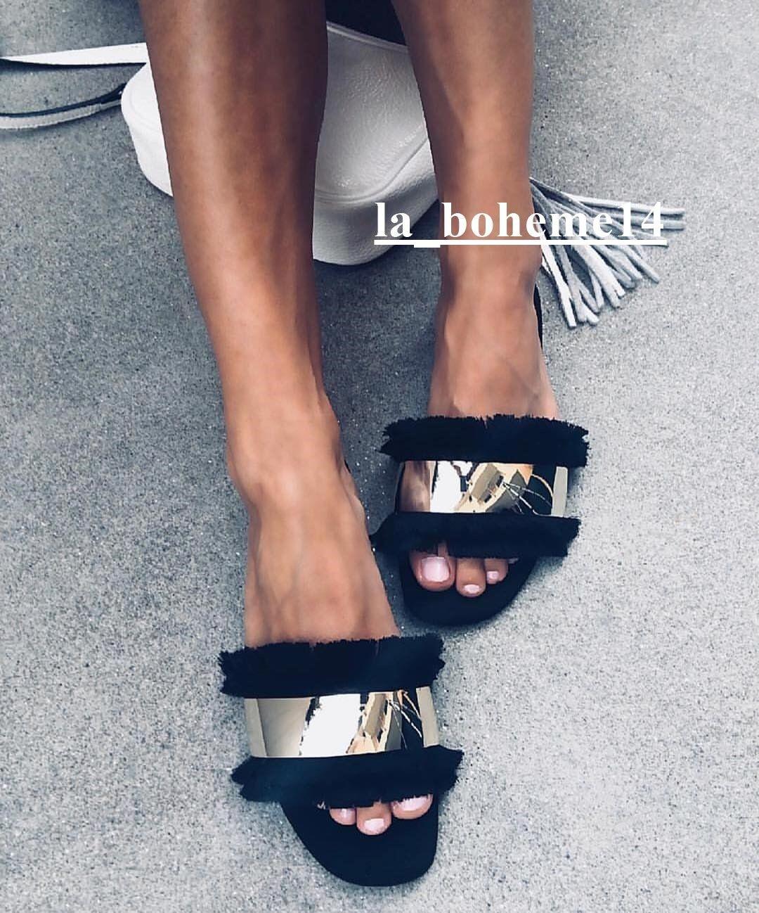 Zara nuevo mujer SS18 Negro diapositivas con con con flecos Ref. 3614 301  marca en liquidación de venta
