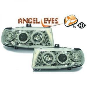 LHD-Faros-Proyectores-Par-Angel-Eyes-Claro-Cromo-para-Seat-Ibiza-Cordoba