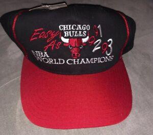 951ddb39f22 1990 s CHICAGO BULLS THREE PEAT Snapback Hat 1993 NBA Finals ...