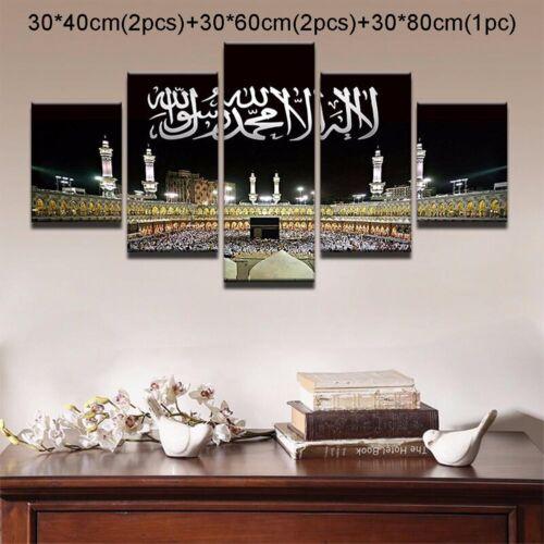 5pcs sans cadre Musulman art peinture à l/'huile impression photo sur toile Maison Mur Chambre Décoration