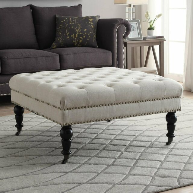 Tufted Ottoman Coffee Table Square