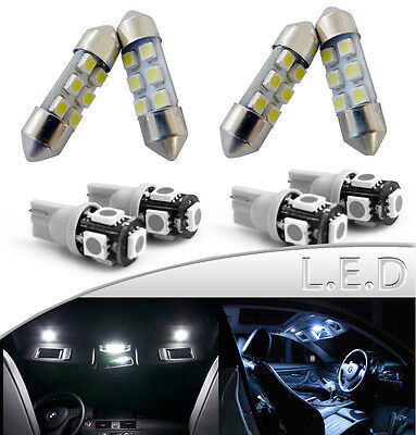 8x White LED Lights Interior Package Kit for 2014-15 Toyota Corolla + License