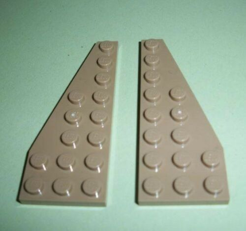 ID 50304 50305 NEW Lego Sand Yellow 1 Pair Right /& Left Wedge Plate 8x3