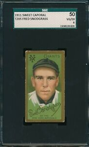 1911 T205 Fred Snodgrass Sweet Caporal SGC 50 VG-EX 4 Not PSA