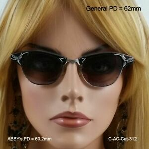 CENTURY CAT EYE Sunshades - True Antique 12k Gold Fill Shades and Leather Case