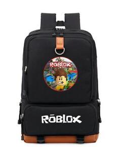 880abc19ce2 New Roblox Backpack Kids School Bag Students Boys Bookbag Handbags ...