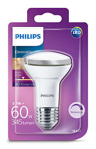 Details zu Philips LED Reflector 5.7W (60W) Bulb E27 Dimmable Warm White 8718291785415