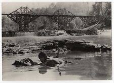 PHOTO ORIGINALE PLEIN CADRE/PONT DE LA RIVIERE KWAI/BRIDGE RIVER KWAI/A.GUINNESS