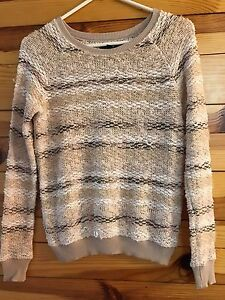 AMERICAN EAGLE* Women's Juniors Tan/Brown/Cream/White/Gold Striped ...