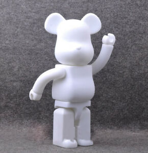 bba79590 28CM/11In Bearbrick 400% DIY White PVC Action Figure Toy Be@rbrick ...