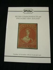 Bien Phillips Auction Catalogue 1994 British Commonwealth Et Spécialisée En Nouvelle-zélande-afficher Le Titre D'origine