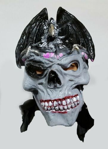 New Adult Latex Scary Skull Latex Mask Halloween Fancy Dress Prank Costume UK