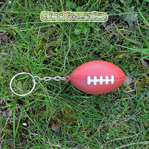 Détails Sur Rugby Ballon Porte Clef Confection Dragees Pour Communion Anniversaire Fete