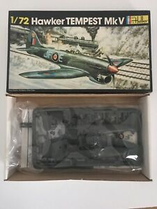 Rare Heller Hawker Tempest MK V Airplane Model Kit - 1/72 - Contents Sealed -(53