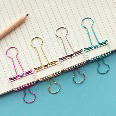 Cute Colorful Pierced Metal Binder Paper Clips Office Learning Office Supply