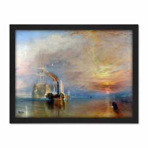 Turner-The-Fighting-Temeraire-Ship-Painting-Framed-Wall-Art-Print-18X24-In