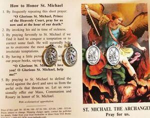 ST-MICHAEL-SAINT-MICHAEL-4-FAITH-BLESSED-MEDALS-PRAYER-CARD-PENDANT-CHARM